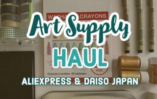 YouTube THUMB 04 22 21 Art Supply Haul AliExpress Daiso 1
