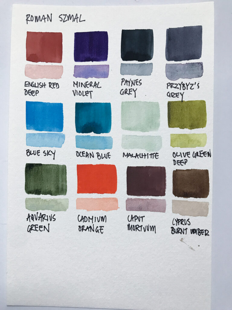 roman szmal watercolor paint swatches