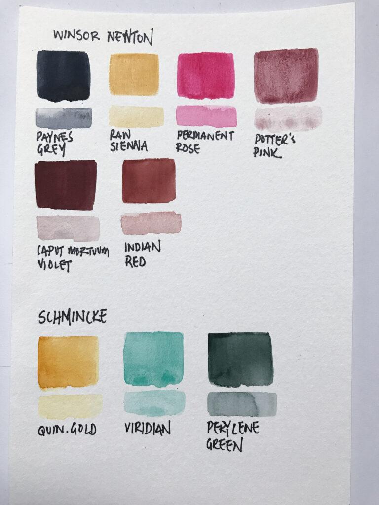 van gogh turner super vision watercolor swatches